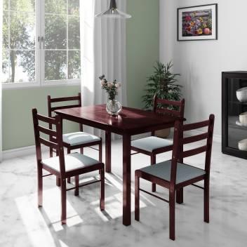 Terrific Flipkart Perfect Homes Capri Engineered Wood 4 Seater Dining Set Home Interior And Landscaping Ologienasavecom