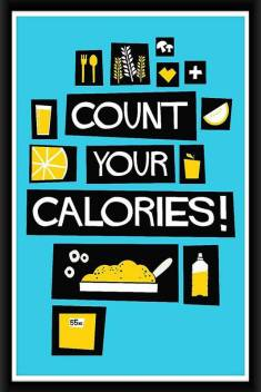 Online Center Dining Room Wall Decor Posters In Wall Frames Gym Motivational Posters Count Your Calories Multicolour Digital Printing Framed Poster 8x12 Inch Paper Print Quotes Motivation Posters In