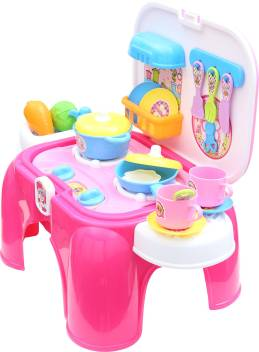 Kids Kitchen Accessories >> Miss Chief Kitchen Play Set With Chair And Accessories Toy For Kids