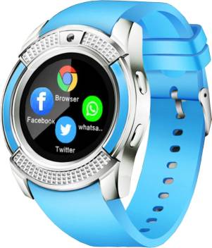 Time Up I-PRO Smart Watch Phone for Android/iOS Light Blue Smartwatch