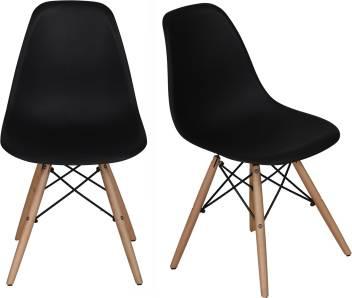 Astonishing Lakdi 2 Pcs Retro Eames Replica Dsw Dining Chairs Pp Moulded Creativecarmelina Interior Chair Design Creativecarmelinacom