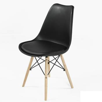 Finch Fox Eames Replica Nordan Dsw Stylish Modern Furniture Plastic Chairs With Cushion For Cafeteria Seating Dining Chair Side Chair Kitchen Restaurants Hotels White Color Plastic Dining Chair Price In India Buy Finch Fox Eames