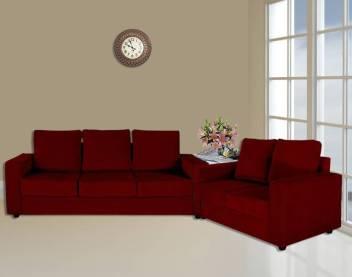Primrose Eclipse Fabric 3 2 Maroon Sofa Set