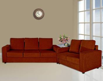 2 Dark Orange Sofa Set In India