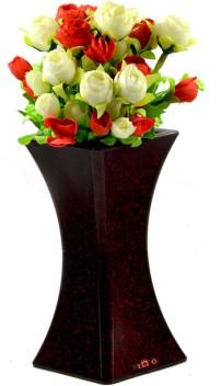 ME\u0026YOU Decorative Artificial Rose Flower with Vase for Home Décor, Table  Décor, Office Décor, Living Room Décor IZ19FlowerPotPvcRFlower8,001 Red,