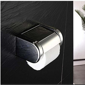 Stainless Steel Toilet Roll Holder Toilet Paper Hook Camping Tent Outdoor Silver