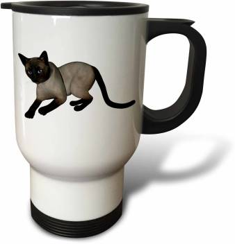 3drose Laying Siamese Cat Travel Stainless Steel Mug Price In India Buy 3drose Laying Siamese Cat Travel Stainless Steel Mug Online At Flipkart Com
