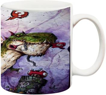 Anni69 Cute Gironl Sitting Dinosaur Ceramic Mug Price In India