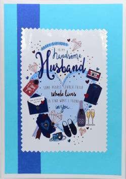 Sensational Aanyacentric Husband Birthday Handmade Greeting Card Price In Funny Birthday Cards Online Fluifree Goldxyz