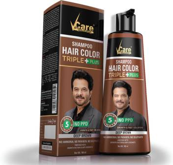 Vcare Shampoo Hair Color 180 Ml Brown Price In India Buy Vcare Shampoo Hair Color 180 Ml Brown Online In India Reviews Ratings Features Flipkart Com