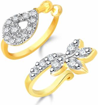 Yellow Chimes Crystal Gold Plated Plated Copper Nose Ring Price In