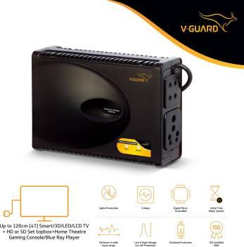 V-Guard Crystal Plus Supreme TV Voltage Stabilizer for 120 cm (47) TV+Set  topbox+Home Theatre System (Working Range: 90-290V