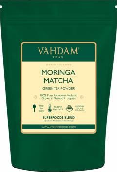 Vahdam MORINGA + MATCHA Green Tea Powder Green Tea Pouch Price in