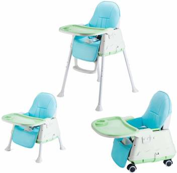 Syga High Chair For Baby Kids Safety Toddler Feeding Booster Seat Dining Table Chair With Wheel And Cushion