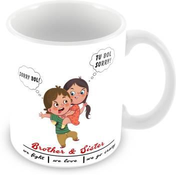 Smartbuy Brother Coffee And Teaamp; Go Mug For Ceramic Flipkart Sister Crazy We FightLove Printed uTwOPZkXi
