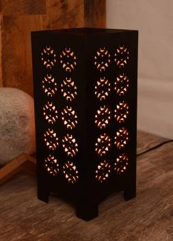 Gojeeva New Wooden Table Lamp With Creative laser cutting Design