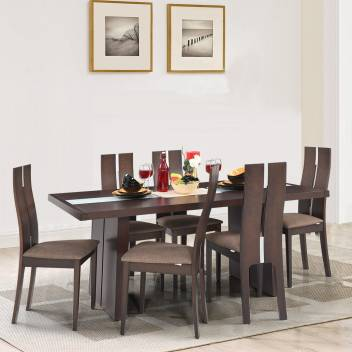 Royaloak Cardiff Solid Wood 6 Seater Dining Set Price In India Buy Royaloak Cardiff Solid Wood 6 Seater Dining Set Online At Flipkart Com