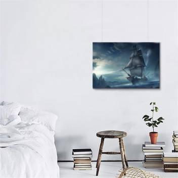 GWSJ-10127 Printed Pirate Ship Wall Matte Poster