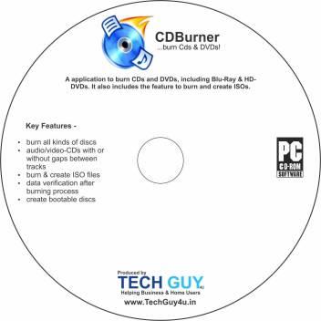 TechGuy4u CD DVD & Blue RAY Burning Software (NERO Alternative