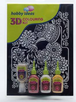 Flipkart Com Fevicryl 3 D Colouring Kit Floral Watering Can