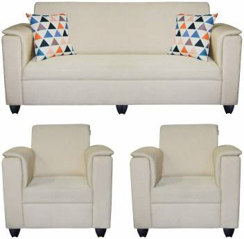 Groovy Hifurn Fabric 3 1 1 White Sofa Set Price In India Buy Hifurn Machost Co Dining Chair Design Ideas Machostcouk
