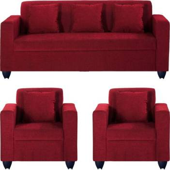 Phenomenal Westido Fabric 3 1 1 Maroon Sofa Set Inzonedesignstudio Interior Chair Design Inzonedesignstudiocom