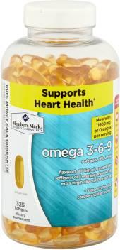 Member S Mark Omega 3 6 9 Dietary Supplement 325 Softgels 1600 Mg
