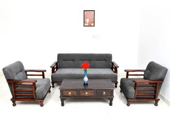 Divine Arts Sheesham Wood 5 Seater Sofa Set 3 1 1 For Living