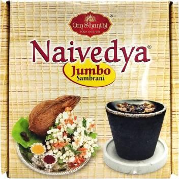 Om Shanthi Naivedya Jumbo Sambrani Dhoop Cone Price in India - Buy