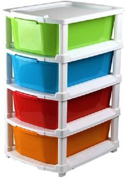 Plastic 4 Pull Out Modular Drawer