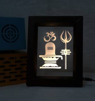 Zuper The Lord Shiv 3D Acrylic (color-brown) Table Lamp