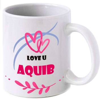 Framory Love Gift Personalized Coffee Love You Aquib Ceramic