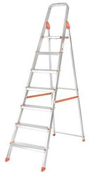 Bathla Advance 7 Step Foldable With Sure Hinge Technology Orange And Silver Aluminium Ladder Price In India Buy Bathla Advance 7 Step Foldable With Sure Hinge Technology Orange And Silver Aluminium Ladder Online