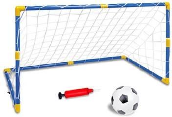 Indusbay Football Goal Post Net With Ball Pump Indoor Outdoor