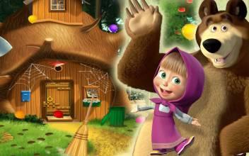 Masha And The Bear Cartoon Poster High Resolution 300 Gsm
