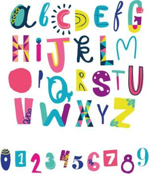 Alphabet And Number Chart Paper Print Children Posters In India Buy Art Film Design Movie Music Nature And Educational Paintings Wallpapers At Flipkart Com