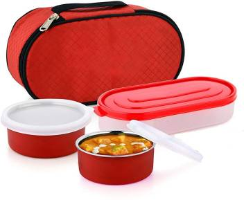 Leak Proof 3 Containers Lunch Box