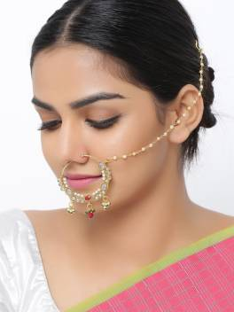 Sanjog Brass Nose Ring Price In India Buy Sanjog Brass Nose Ring
