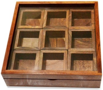 Storage and Craftgasmic Spice Box With Container In Sheesham Wood With Spoon