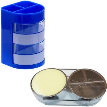 Panku 5 Compartments Plastic Pen Stand