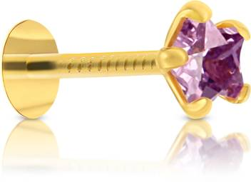 Vandana Diamond Gold Plated Plated Stone Nose Stud Price In India