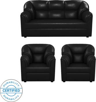 Sensational Westido Leatherette 3 1 1 Black Sofa Set Inzonedesignstudio Interior Chair Design Inzonedesignstudiocom