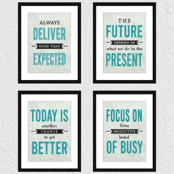 Motivational Office Quotes Décor Set