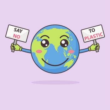 Say No To Plastic Sticker Poster Save Environment No Plastic Save