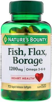 Nature S Bounty Fish Flax Borage Omega 3 6 9 1200 Mg 72 Rapid