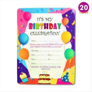 Almoda Creations Birthday Party Invitation Cards It S My