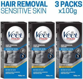 Veet Hair Removal Cream For Men Sensitive Skin 100g Each Pack