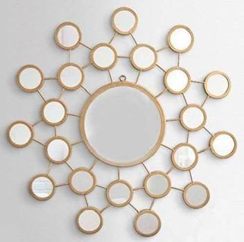Furnish Craft Design Golden Glass Wall Mirror With Multi Small Mirrors Decorative Mirror Price In India Buy Furnish Craft Design Golden Glass Wall Mirror With Multi Small Mirrors Decorative Mirror Online