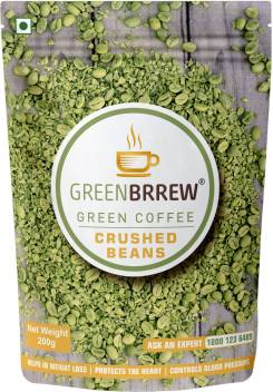 Greenbrrew Organic Unroasted Green Coffee Crushed Beans Instant