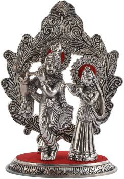 White Box White Box Metal Lord Radha Krishna Idol With Mehrab